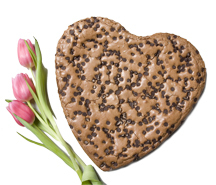 Giant Brownie Heart - 2lbs - Geoff & Drew's, LLC :  corporate basket and holiday gifts baked to order black white cookies fresh-baked cookies